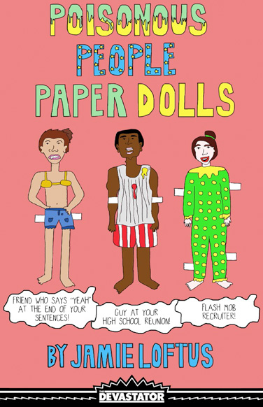 Poisonous People Paper Dolls